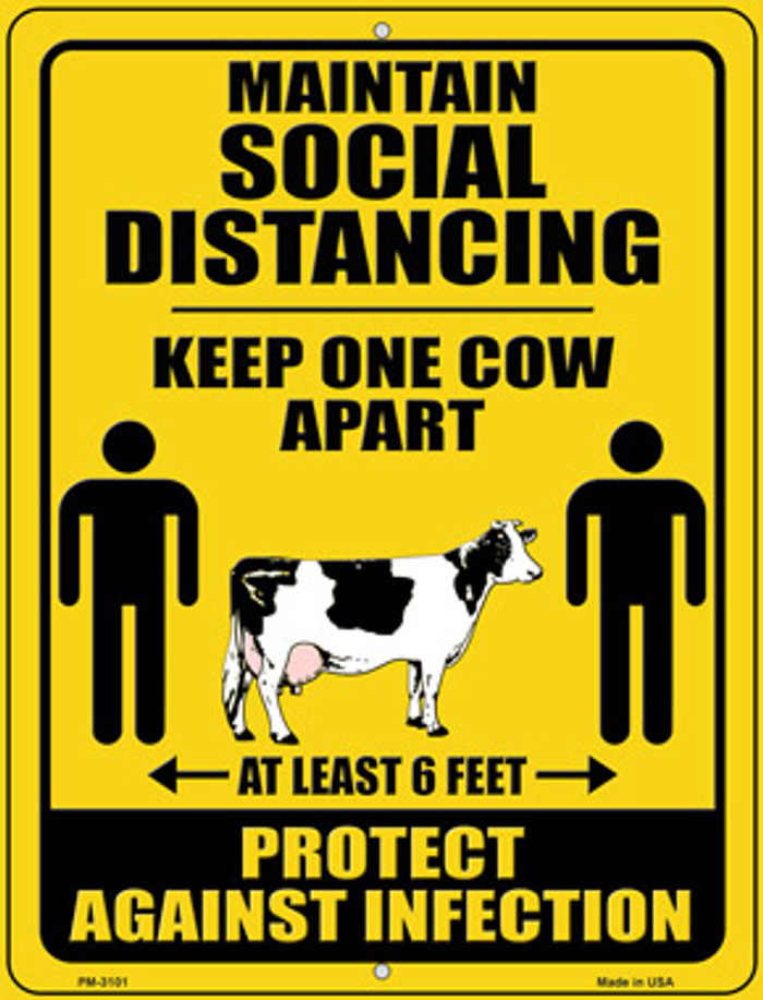 Keep One Cow Apart Wholesale Novelty Mini Metal Parking Sign PM-3101