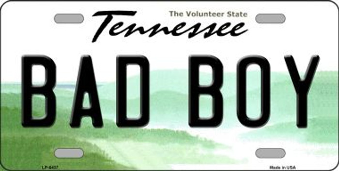 Bad Boy Tennessee Novelty Wholesale Metal License Plate