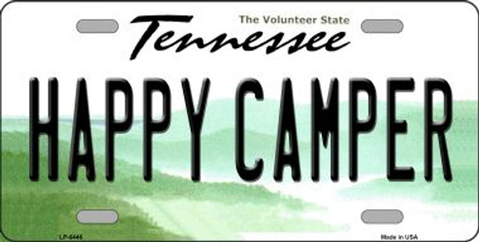 Happy Camper Tennessee Novelty Wholesale Metal License Plate