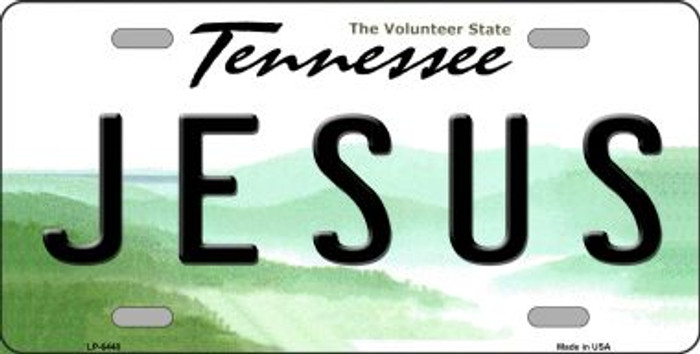 Jesus Tennessee Novelty Wholesale Metal License Plate