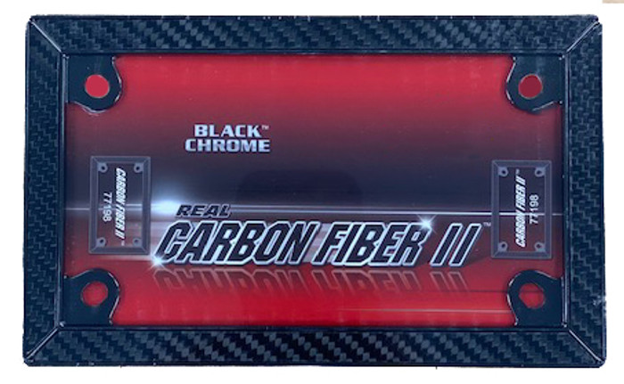 Black Chrome Motorcycle Carbon Fiber FRAME Wholesale Metal Novelty License Plate Frame LPF-2020