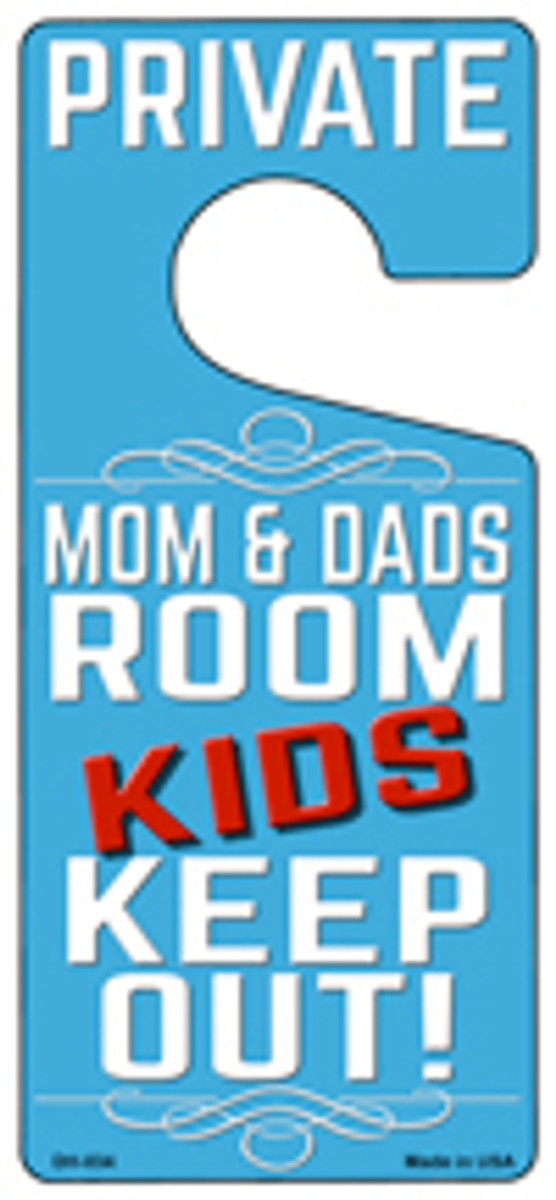 Private Mom And Dads Room Wholesale Novelty Metal Door Hanger DH-034