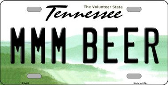 MMM Beer Tennessee Novelty Wholesale Metal License Plate