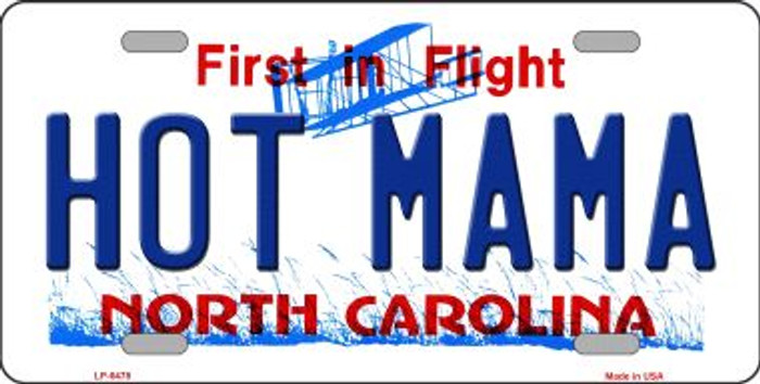 Hot Mama North Carolina Novelty Wholesale Metal License Plate