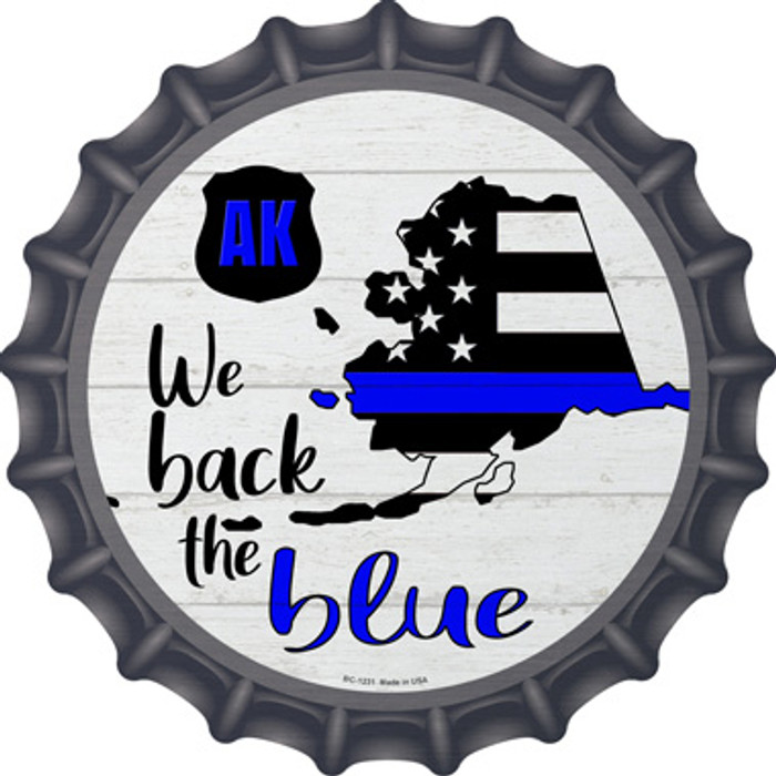 Alaska Back The Blue Wholesale Novelty Metal Bottle Cap BC-1231