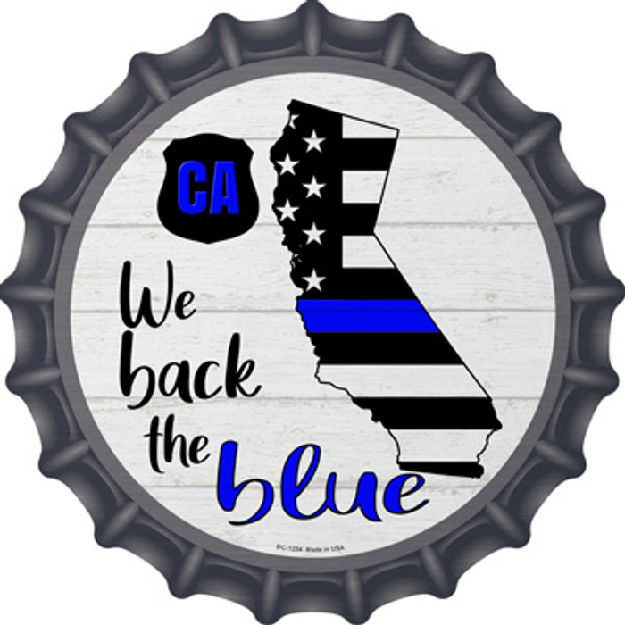California Back The Blue Wholesale Novelty Metal Bottle Cap BC-1234