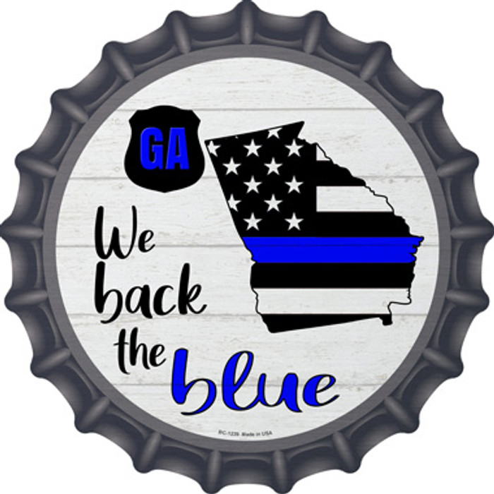 Georgia Back The Blue Wholesale Novelty Metal Bottle Cap BC-1239