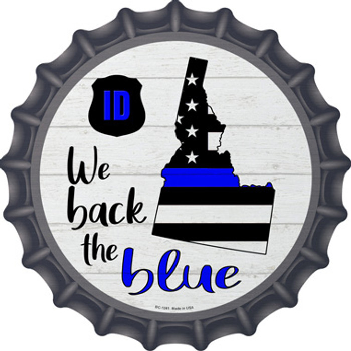 Idaho Back The Blue Wholesale Novelty Metal Bottle Cap BC-1241