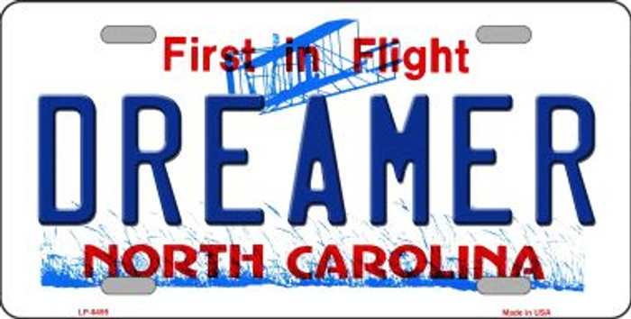 Dreamer North Carolina Novelty Wholesale Metal License Plate