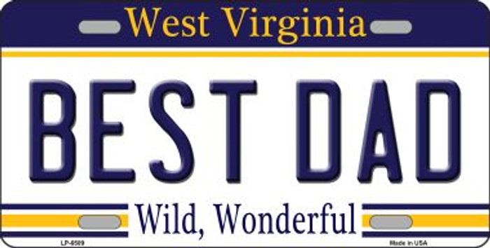 Best Dad West Virginia Novelty Wholesale Metal License Plate