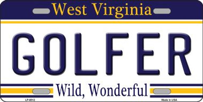 Golfer West Virginia Novelty Wholesale Metal License Plate