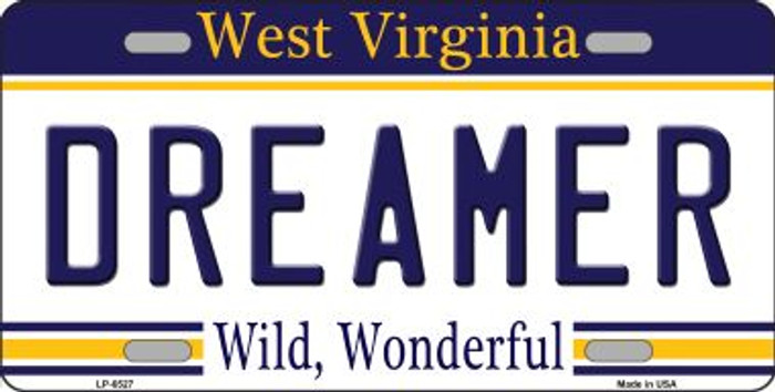 Dreamer West Virginia Novelty Wholesale Metal License Plate