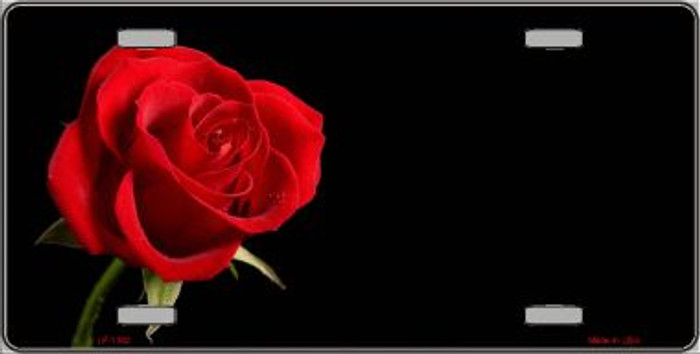 Rose Offset Novelty Wholesale Wholesale Metal License Plate LP-1342