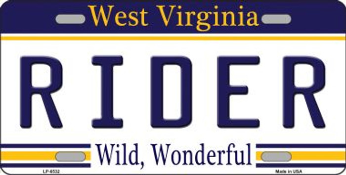 Biker West Virginia Novelty Wholesale Metal License Plate