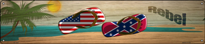 Confederate Flag and US Flag Wholesale Novelty Metal Street Sign ST-1525