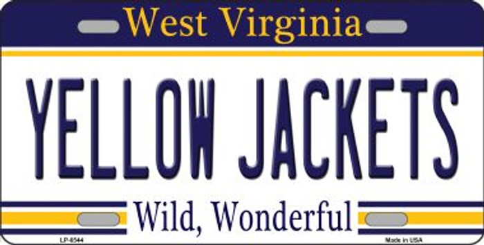 Yellow Jackets West Virginia Novelty Wholesale Metal License Plate