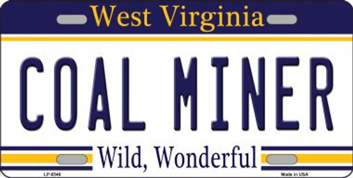 Coal Miner West Virginia Novelty Wholesale Metal License Plate