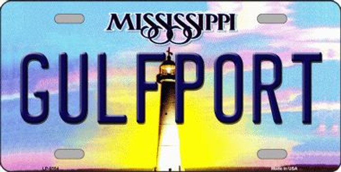 Gulfport Mississippi Novelty Wholesale Metal License Plate