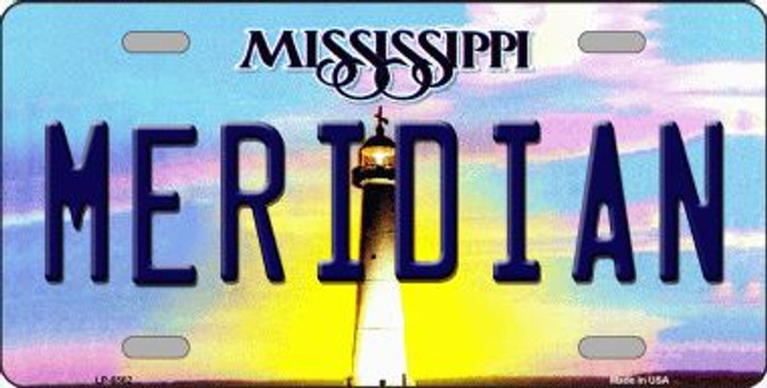 Meridian Mississippi Novelty Wholesale Metal License Plate