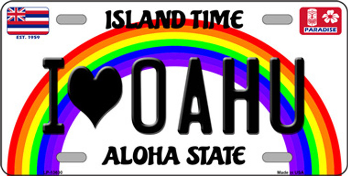 I Heart Oahu Wholesale Novelty Metal License Plate Tag LP-13630