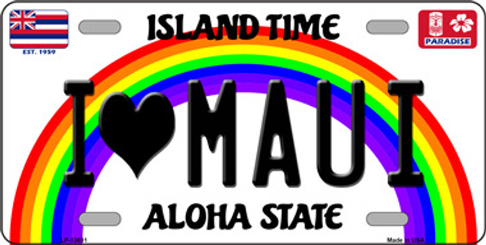 I Heart Maui Wholesale Novelty Metal License Plate Tag LP-13631