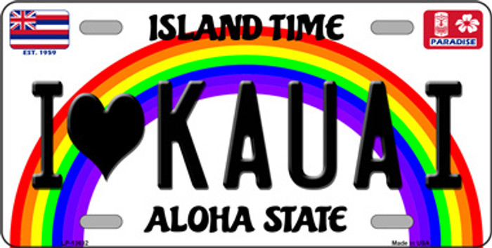 I Heart Kauai Wholesale Novelty Metal License Plate Tag LP-13632