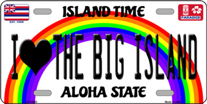 I Heart Big Island Wholesale Novelty Metal License Plate Tag LP-13633