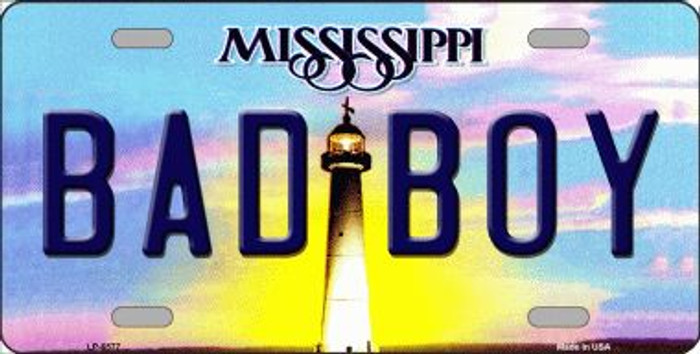 Bad Boy Mississippi Novelty Wholesale Metal License Plate