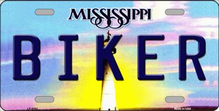Biker Mississippi Novelty Wholesale Metal License Plate