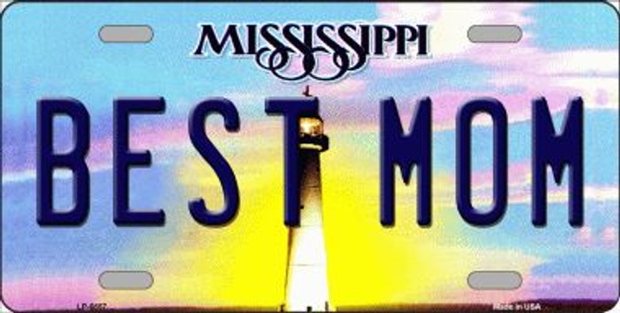 Best Mom Mississippi Novelty Wholesale Metal License Plate