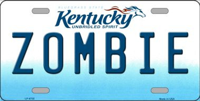 Zombie Kentucky Novelty Wholesale Metal License Plate