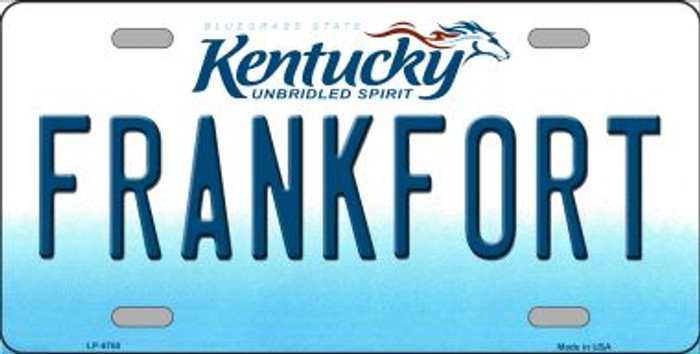 Frankfort Kentucky Novelty Wholesale Metal License Plate