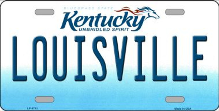 Louisville Kentucky Novelty Wholesale Metal License Plate