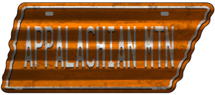 Appalachian Mtn Wholesale Novelty Corrugated Effect Metal Tennessee License Plate Tag TN-249