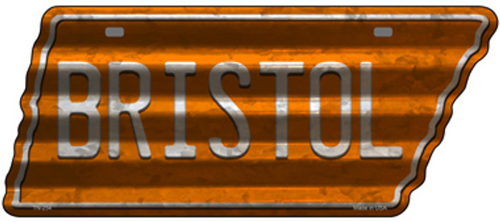 Bristol Wholesale Novelty Corrugated Effect Metal Tennessee License Plate Tag TN-254