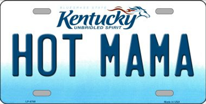Hot Mama Kentucky Novelty Wholesale Metal License Plate