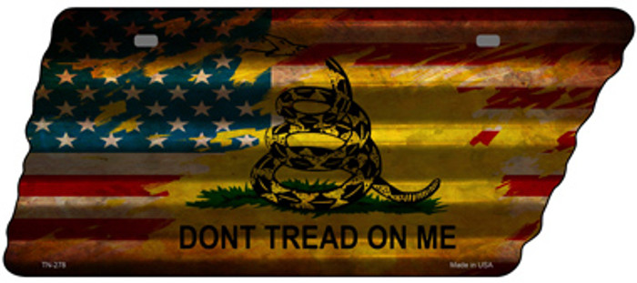 American Dont Tread Wholesale Novelty Corrugated Effect Metal Tennessee License Plate Tag TN-278