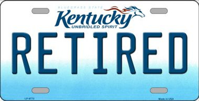 Retired Kentucky Novelty Wholesale Metal License Plate