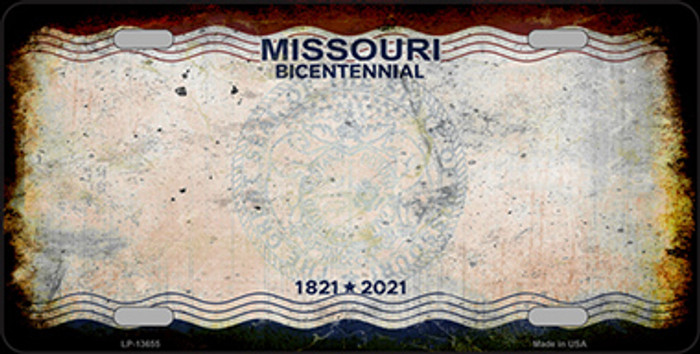 Missouri Bicentennial Wholesale Novelty Metal License Plate Tag LP-13655