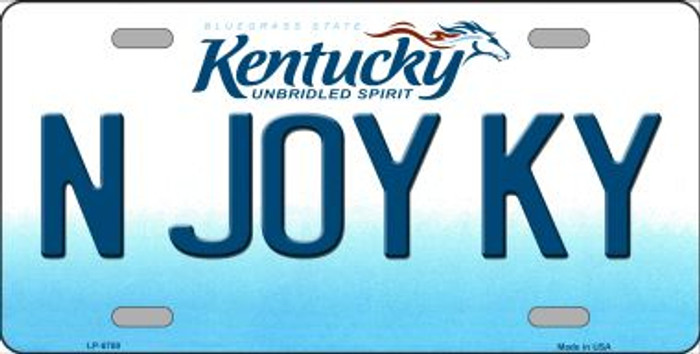 N Joy Kentucky Novelty Wholesale Metal License Plate
