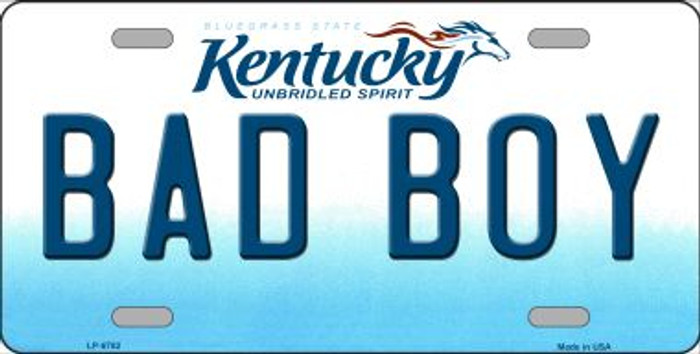 Bad Boy Kentucky Novelty Wholesale Metal License Plate