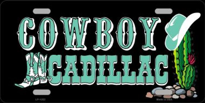 Cowboy Cadillac Novelty Wholesale Metal License Plate