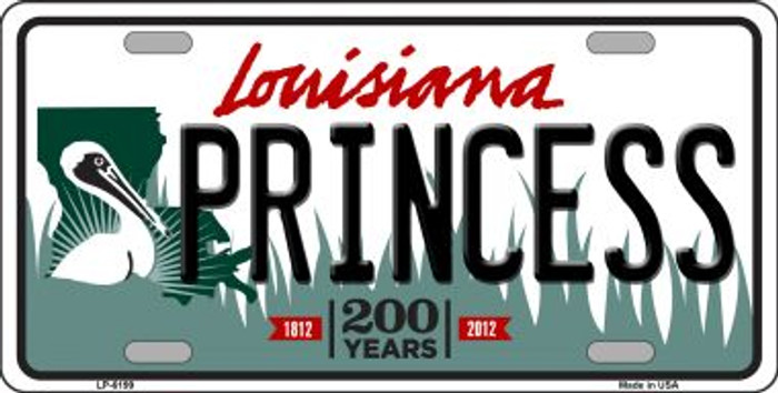 Princess Louisiana Novelty Wholesale Metal License Plate
