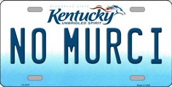 No Murci Kentucky Novelty Wholesale Metal License Plate