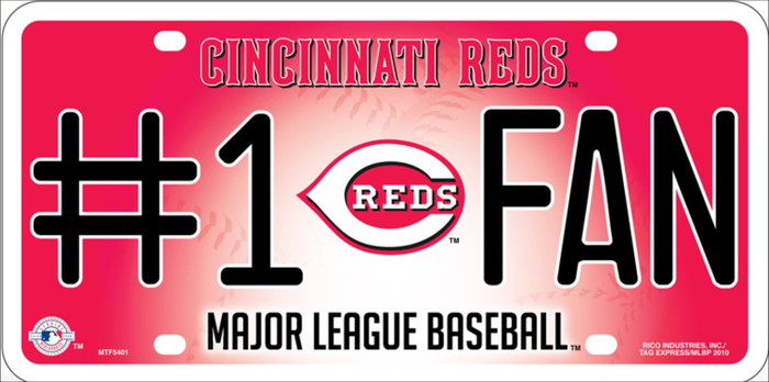 Reds Fan Wholesale Metal Novelty License Plate