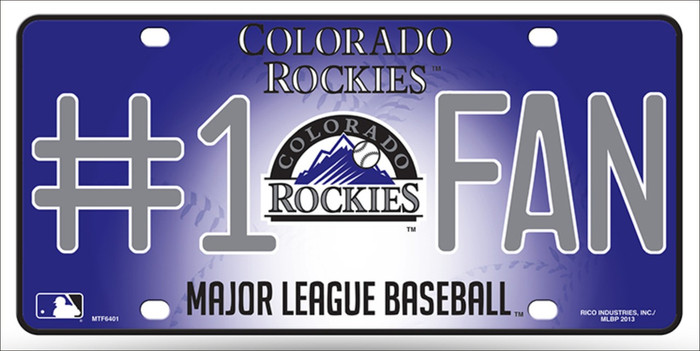 Rockies Fan Wholesale Metal Novelty License Plate