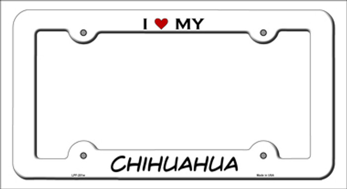 Chihuahua Wholesale Novelty Metal License Plate Frame LPF-201