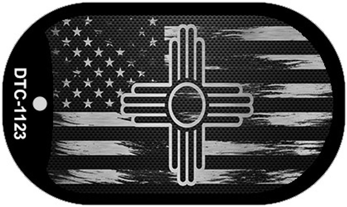 New Mexico Carbon Fiber Brushed Aluminum Wholesale Novelty Metal Dog Tag Necklace DTC-1123