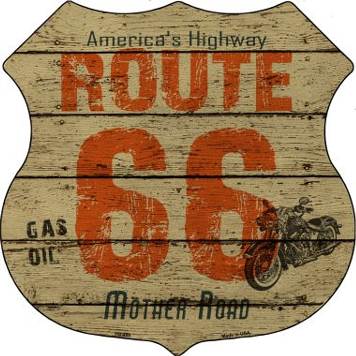 Route 66 Vintage Highway Shield Wholesale Metal Sign