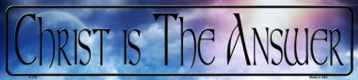 Christ Is The Answer Wholesale Novelty Metal Small Street Signs